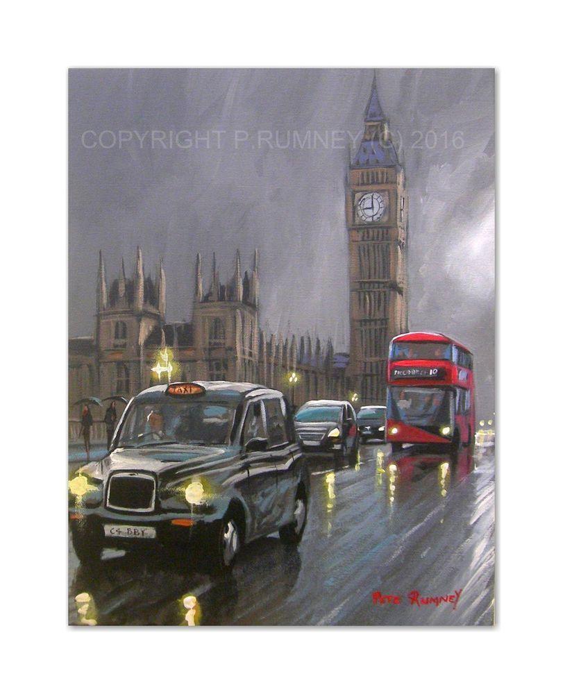 Pete rumney fine art buy original acrylic oil painting london ...