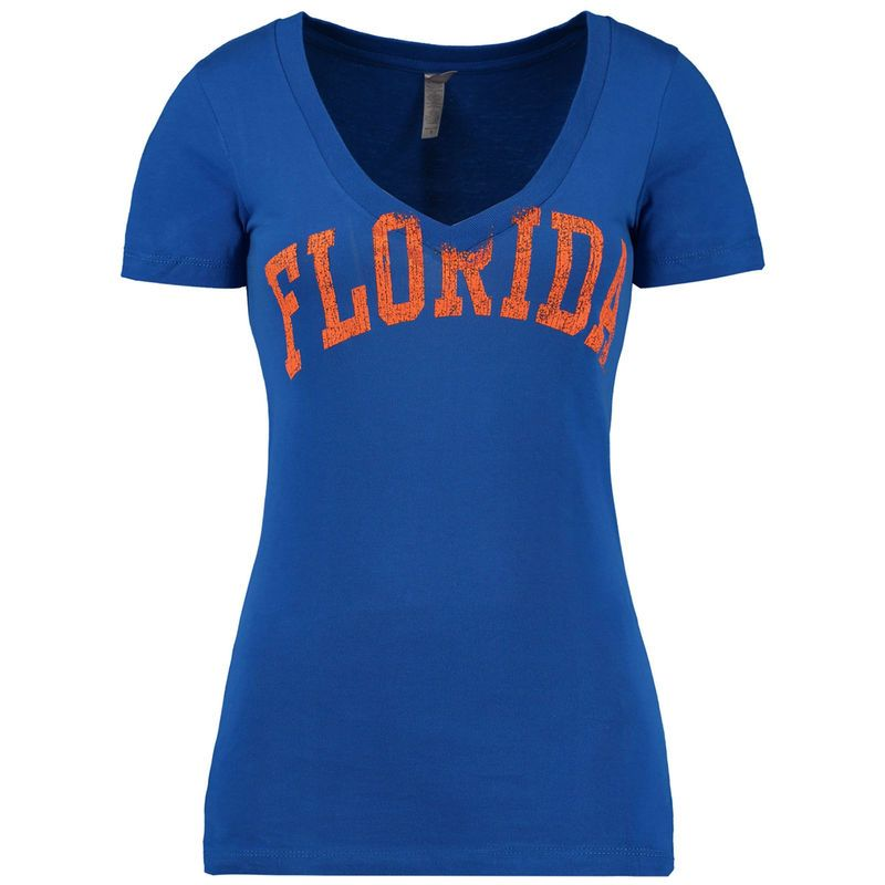 Florida Gators New Agenda Women's Arch Slim Fit V-Neck T-Shirt - Royal