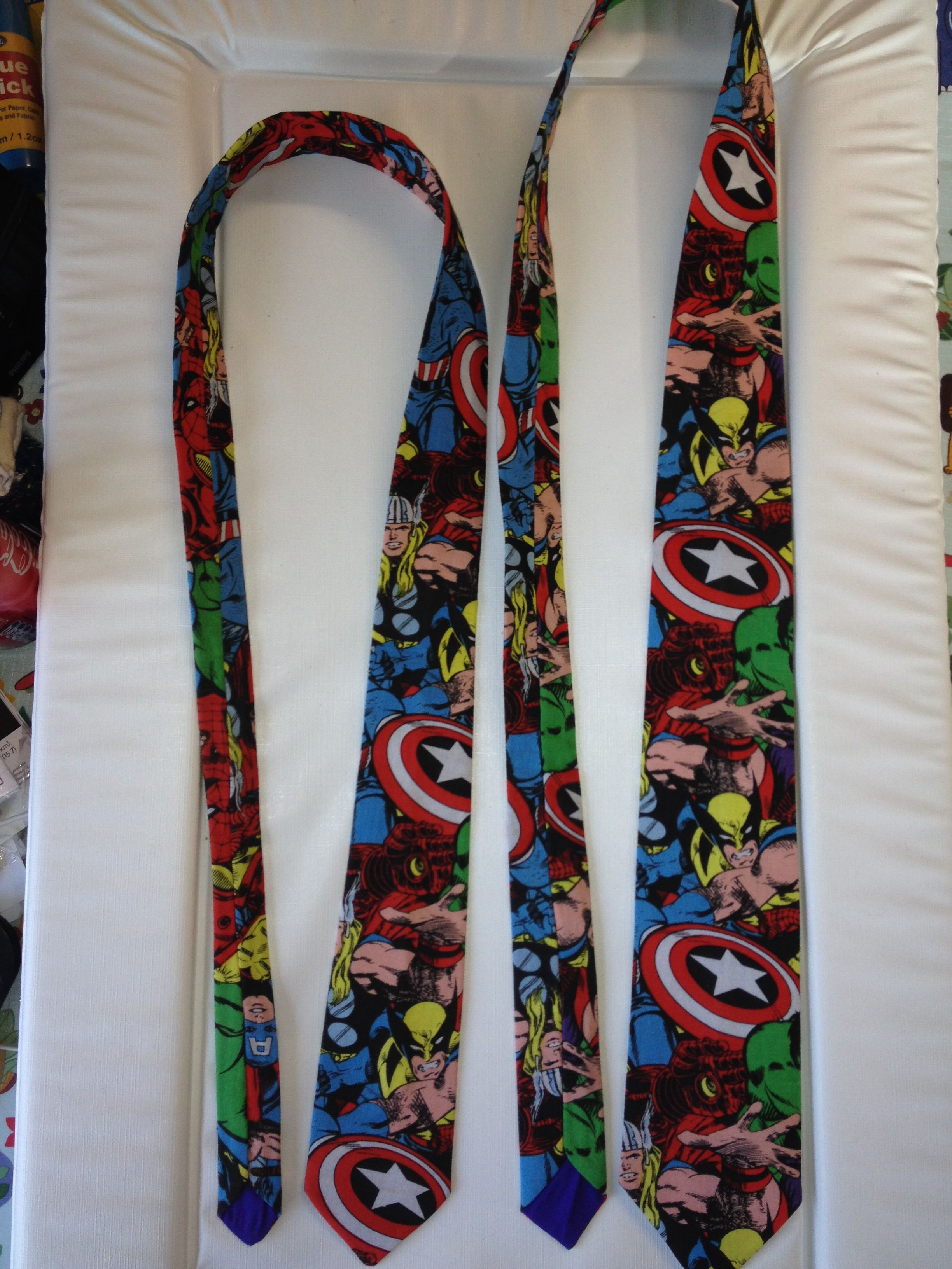 Raz craft handmade ties starting from just £10. These are marvel super hero ones. Look us up on Facebook :-)