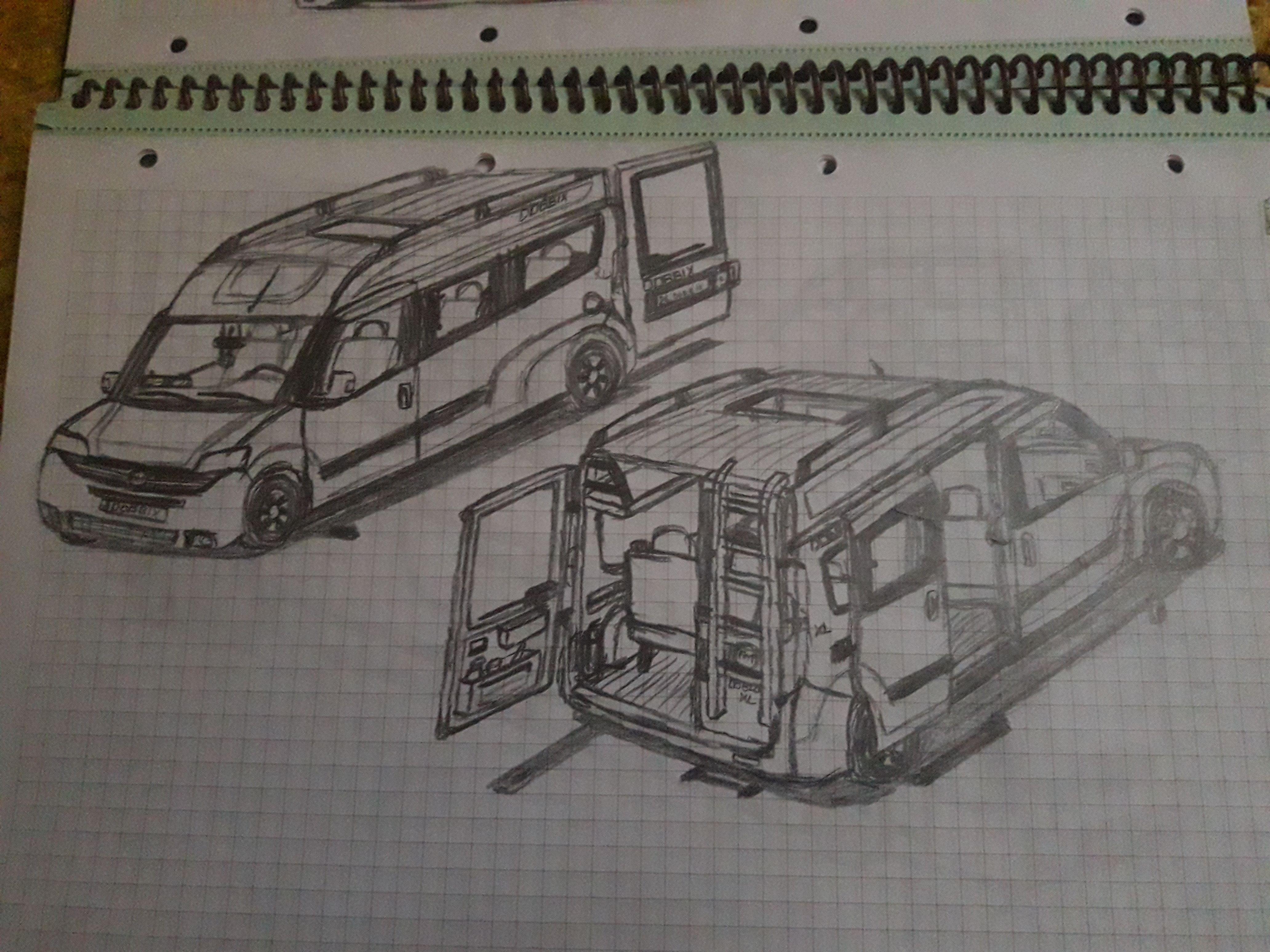 Hayalimdeki Arabamin Cizimi Fiat Doblo Xl Panelvandan 8 1