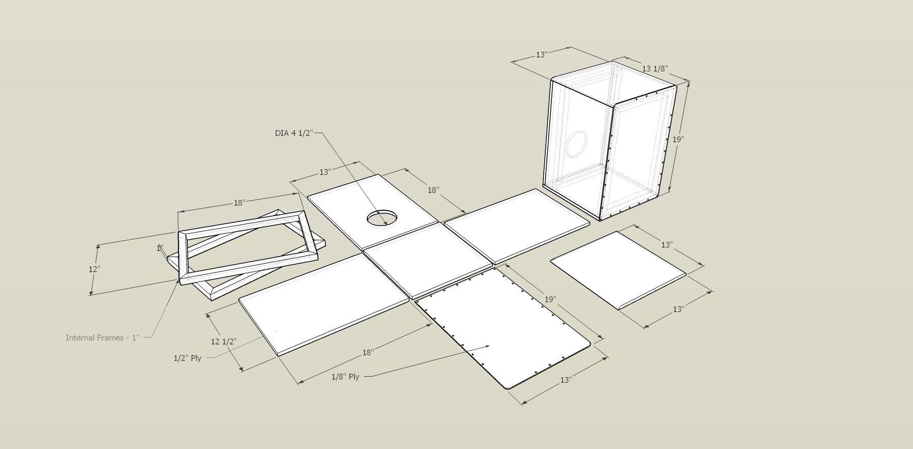 Great Layout Of Demensions For Diy Cajon Cajon Box Drum Drum Box Cajon Drum