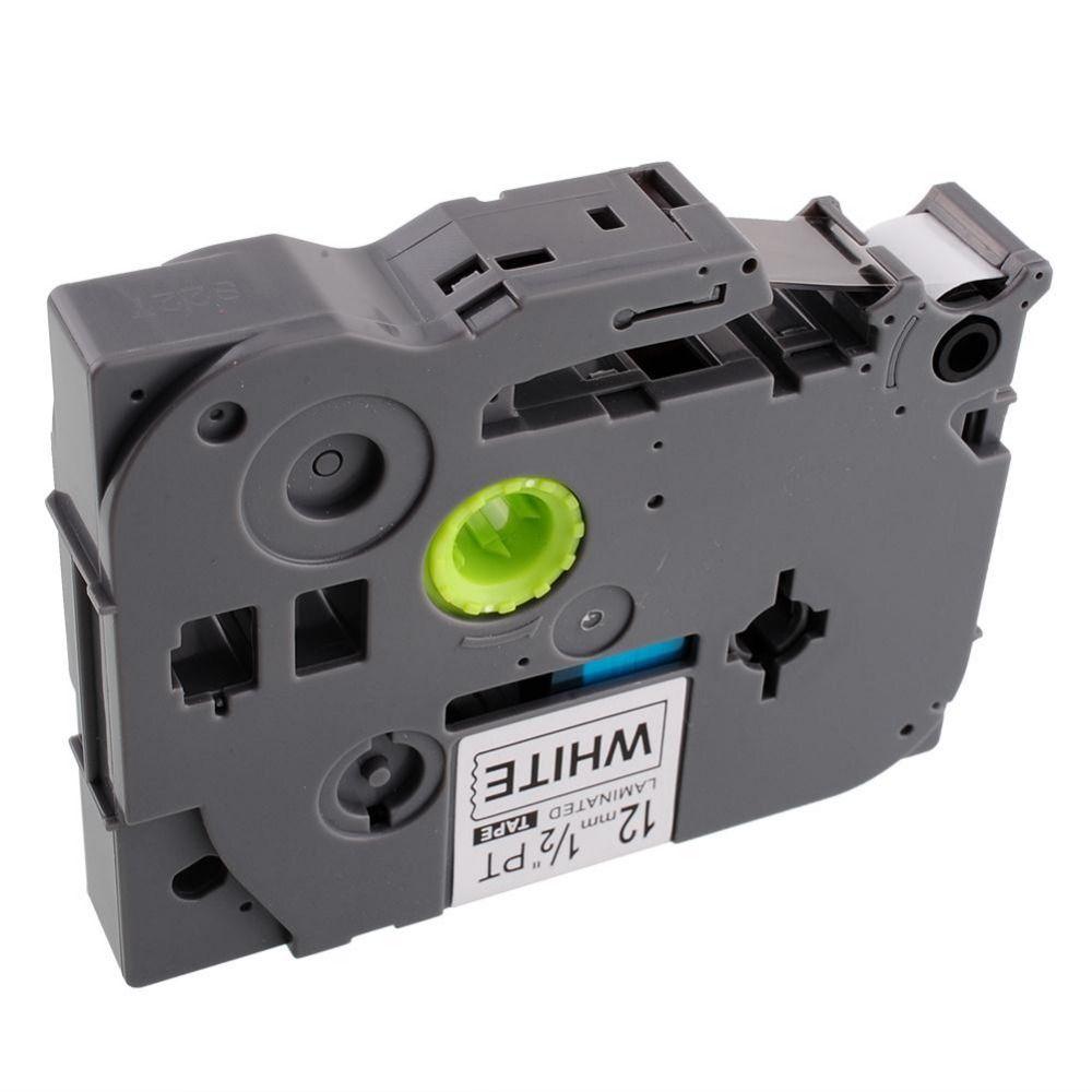 1 paket schwarz druck auf weiß etikettenband p-touch kompatibel für brother tz 231 tze p-touch 12mm etikettendrucker