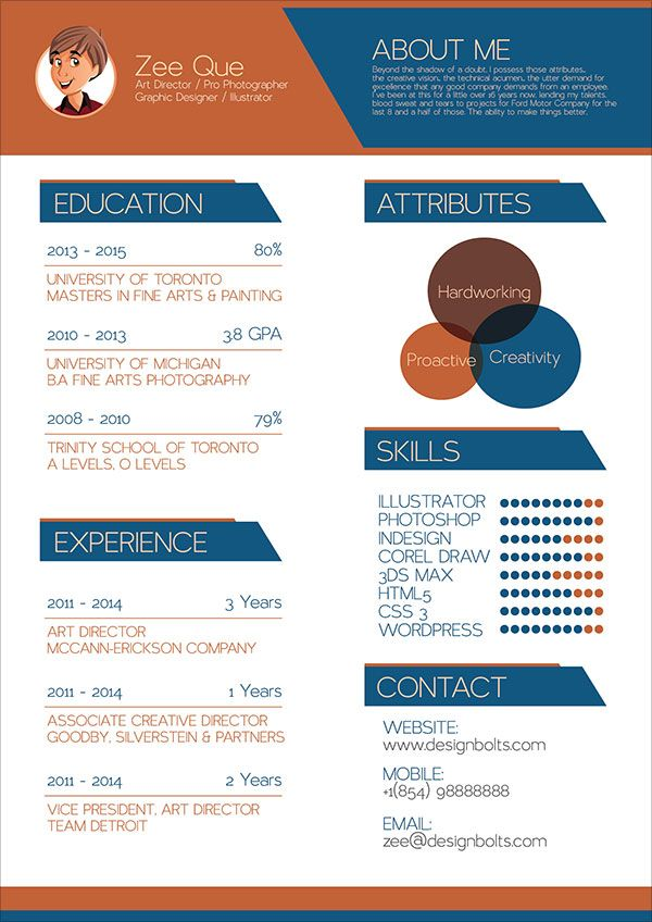 Free-Resume-CV-Template-for-Graphic-Designers-01 | Resume Design ...