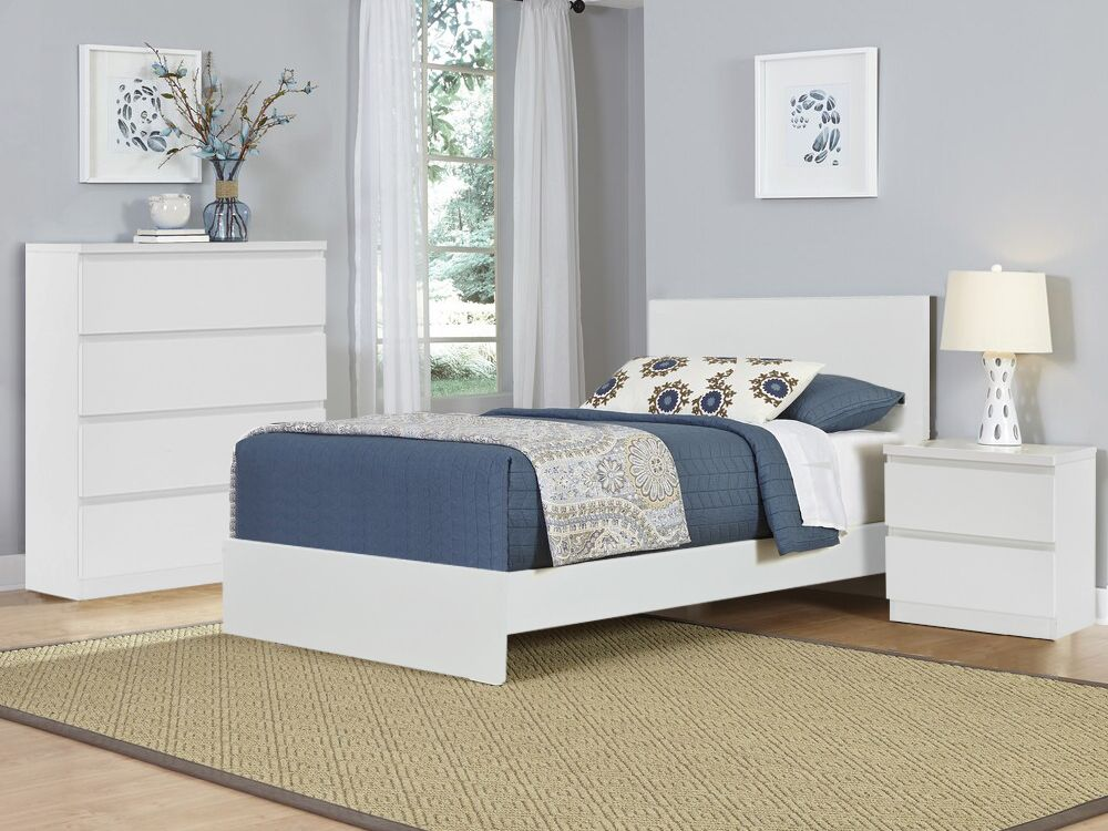 TONGASS Single Bedroom Furniture Package with Tallboy 4 Drawers in