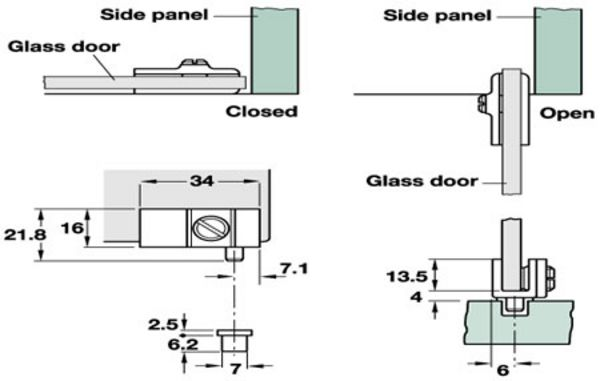 90 Degree Glass Door Pivot Hinge For Inset Doors Glass Cabinet Door Hinges Architectural Ironmongery Sds London Glass Door Hinges Glass Door Glass Hinges