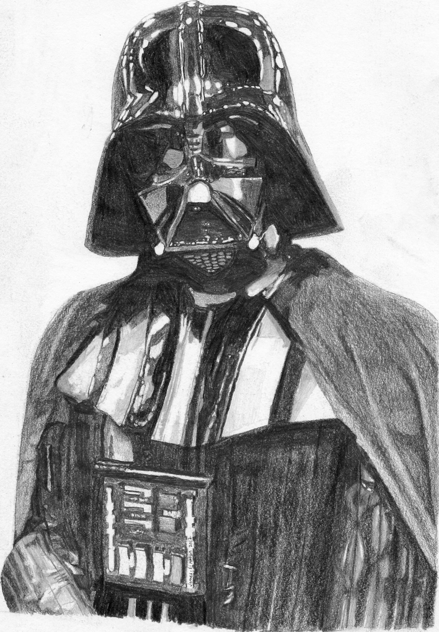 Drawing i drew of darth vader for a certain pinner wait how would you describe someone using - Dessin star wars ...