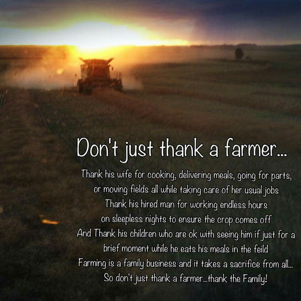Farmer Quotes Thank A Farmer #farmer #quote …  Pinteres…