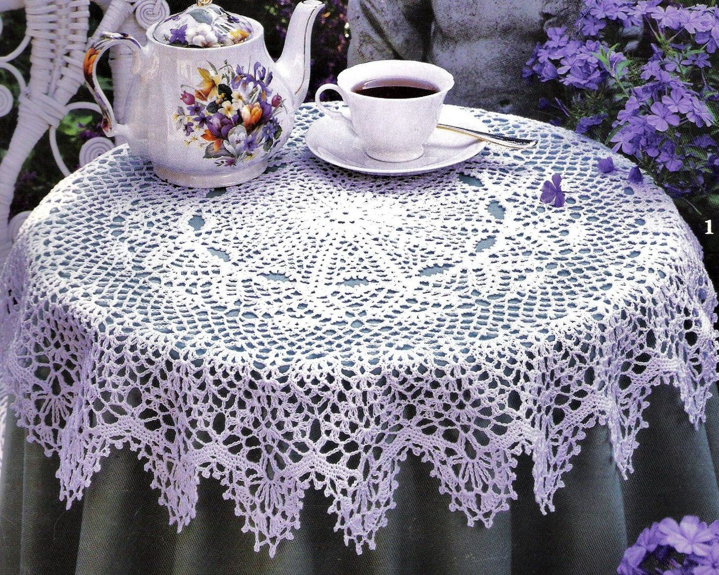 Decoration Easy Crochet Tablecloth Tablecloth Oval Crochet Pattern ...