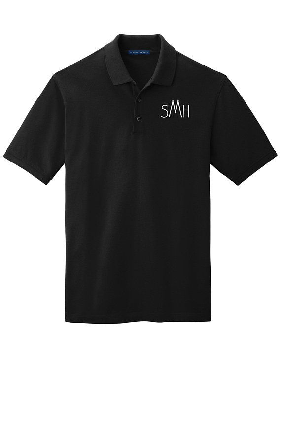 Personalized Polo Shirt Design Your Own Custom Initial Monogram