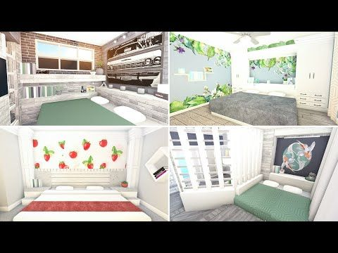 Bloxburg Themed Rooms For Teens Or Adults Spring Edition W Transparent Mural Decals Youtu In 2020 Unique House Design Home Building Design Modern Family House