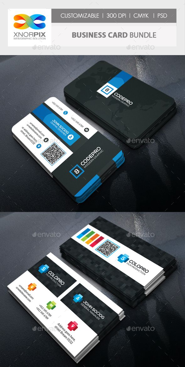 Business card bundle business cards card templates and business buy business card bundle by axnorpix on graphicriver round square corner possible optimized for printing 300 dpi colourmoves