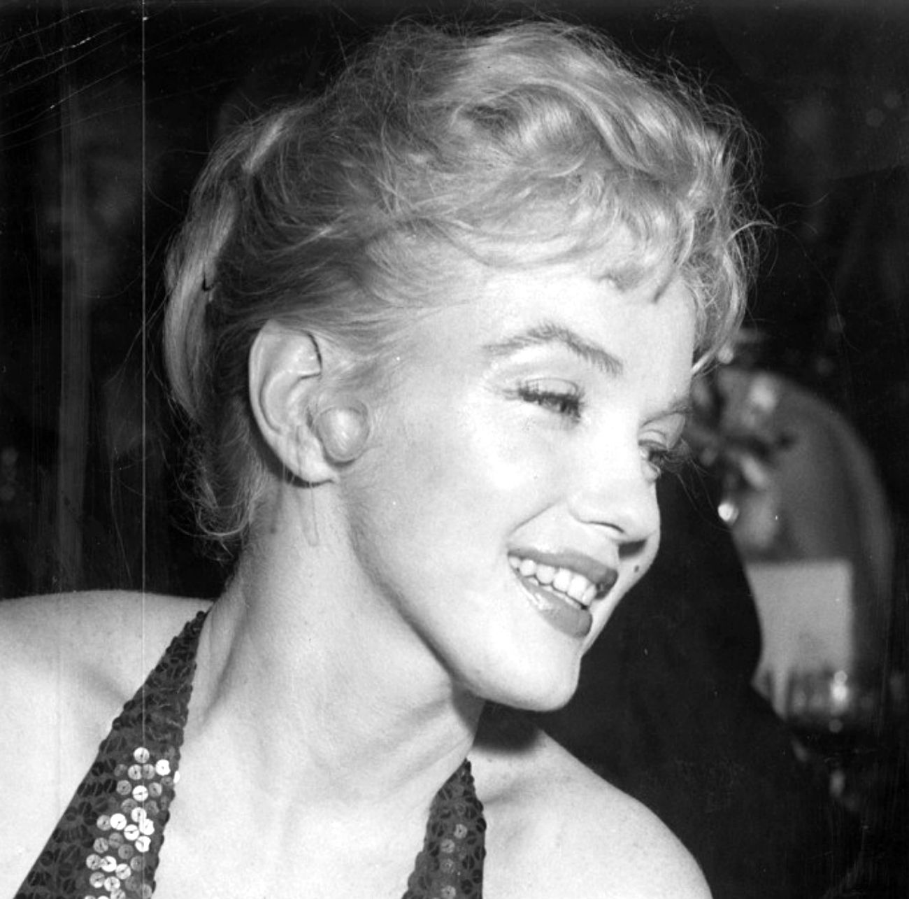 Marilyn Monroe at the April in Paris ball at the Waldorf Astoria, 1957.