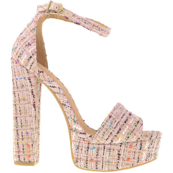 8f8c78805a12 CHINESE LAUNDRY AVENUE TWEED PLATFORM SANDAL ( 70) ❤ liked on Polyvore  featuring shoes