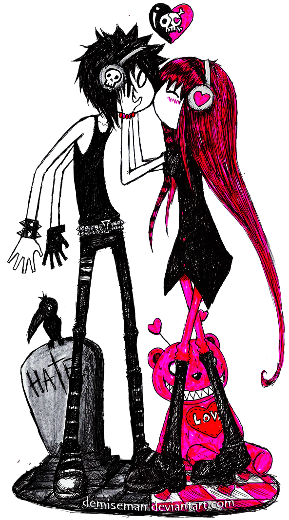 Emo Valentines Day Google Search Art Arte Dibujos Emo