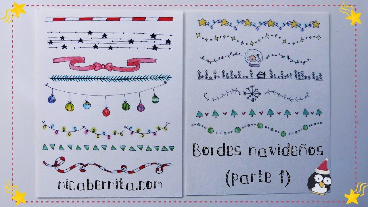 MÁRGENES para cuadernos y BORDES para cartas con dibujos navideños ...
