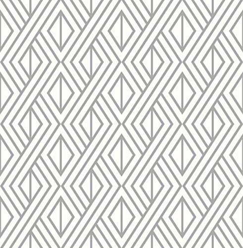 Marquis Diamond Geometric Wallpaper Silver White Wall Https Www Amazon Geometric Wallpaper For Walls Geometric Wallpaper Silver Wallpaper Walls Decor