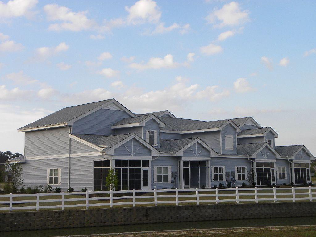 Building 10 has water views and Carolina Rooms House