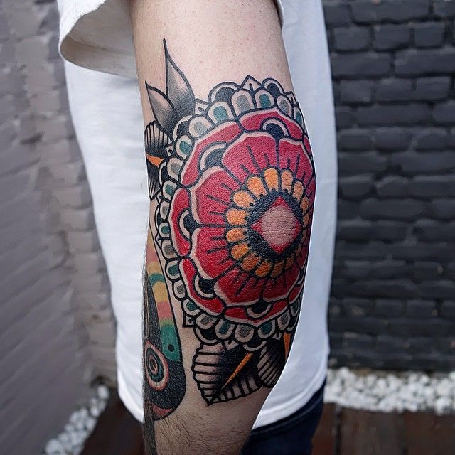 38 Colored Mandala Tattoos Collection: Mandala Thingy By Mors @ La Main Bleue In St-Ghislain