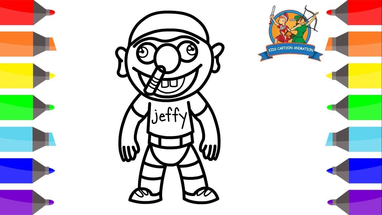 How To Draw Jeffy For Kids Coloring Pages For Kids Jeffy Coloring Pages Kids Cartoon Animation Http Coloring Pages Disney Coloring Pages Mandala Coloring Books