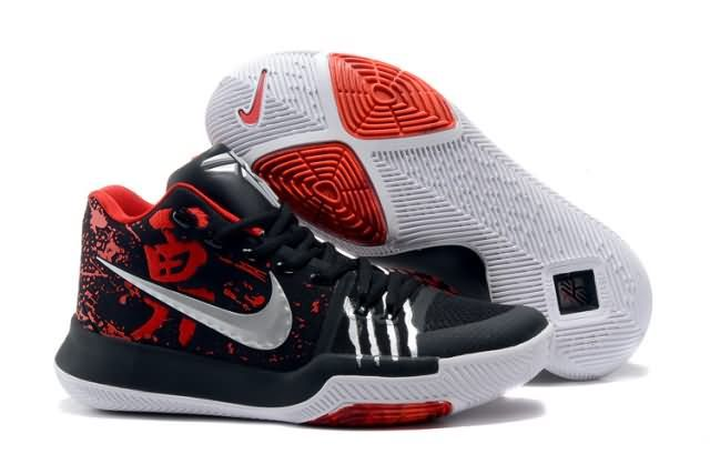 Cheap Kyrie Irving 3 Bruce Lee shoes #black #red Only Price $65 To Worldwide