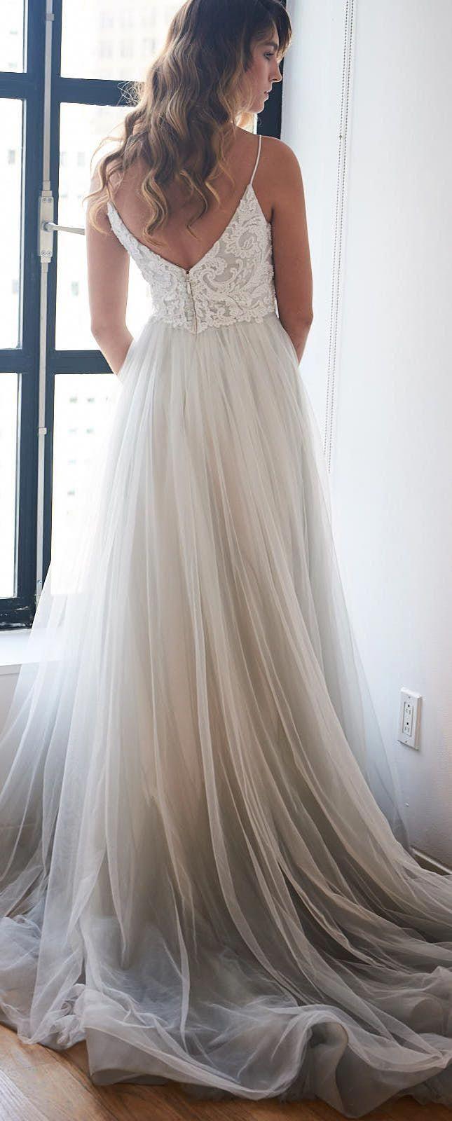 Star wedding dress by kelly faetanini in blue pearlescent