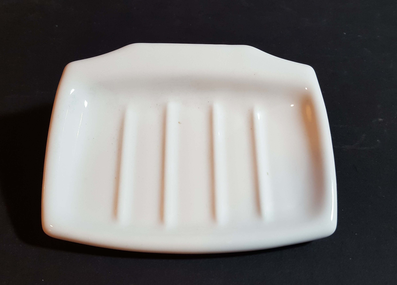 Vintage White Porcelain Soap Dish Bathroom Accessory In 2020 Dish Soap White Porcelain White Vintage