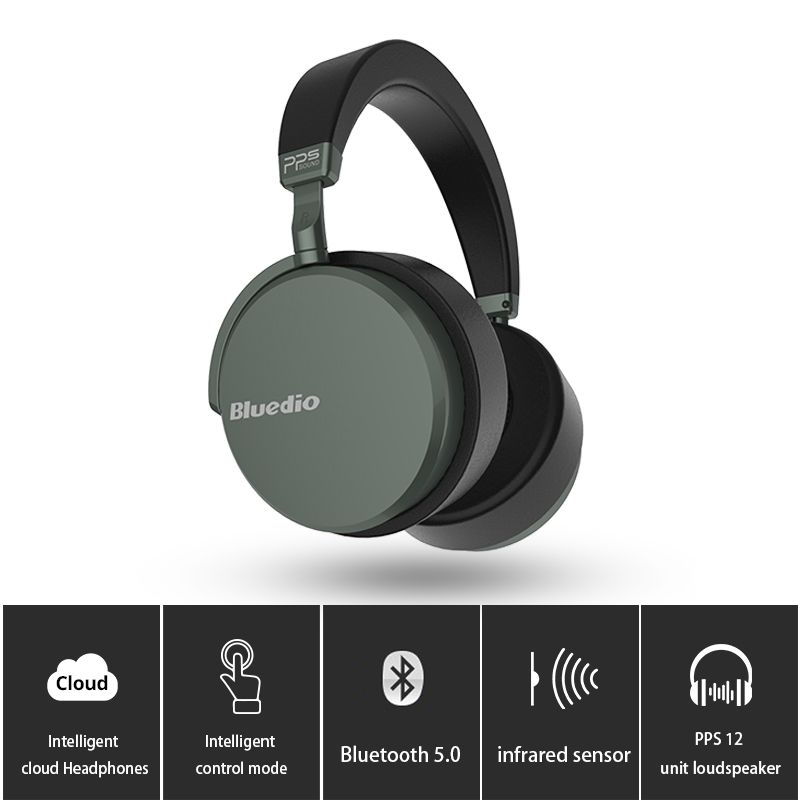 4be13a7b090 Bluedio V2 Bluetooth headphones, Wireless headset PPS12 drivers with  microphone for phone and music