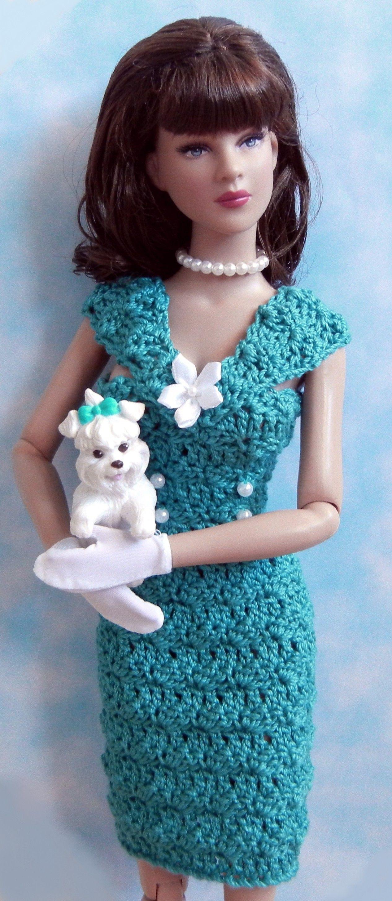 Crochet pattern (PDF) for 16-inch fashion doll - 1950s ...