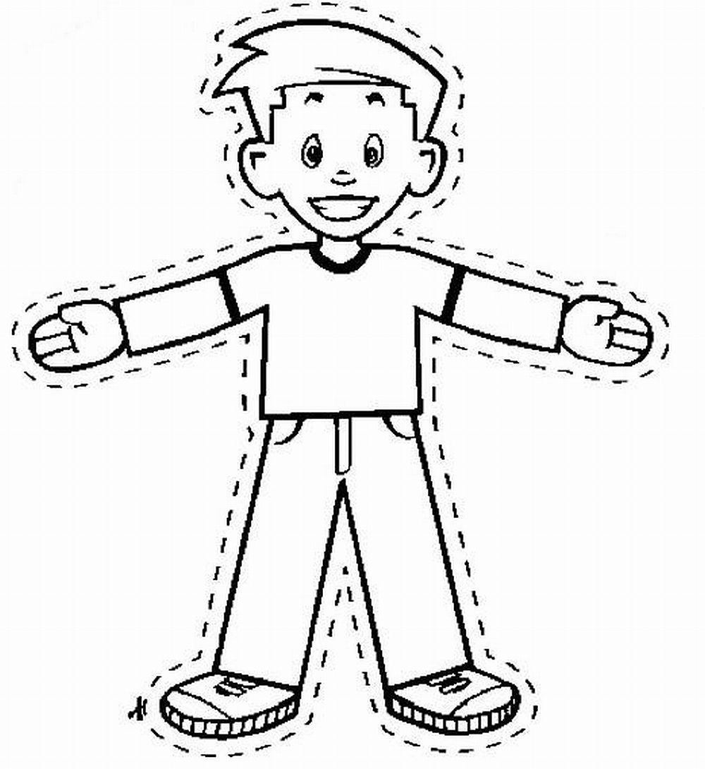 Flat Stanley Coloring Page Printable Coloring Pages Flat