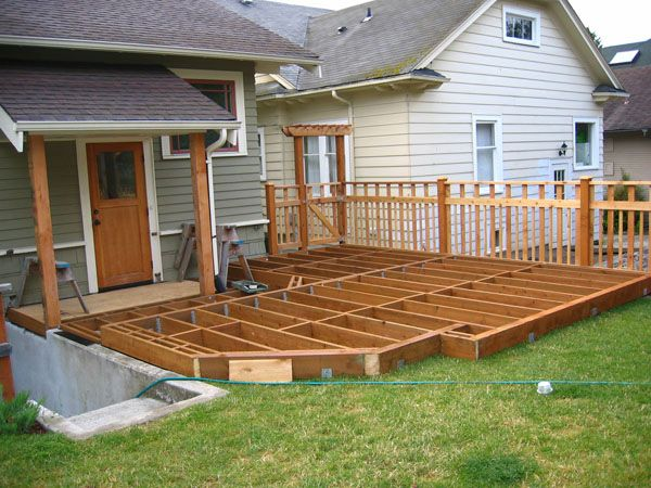 Low deck google search decking pinterest for Steps to building a house from the ground up