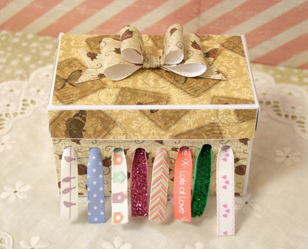 Ribbon Box Organiser Craft Tutorial with Free Template