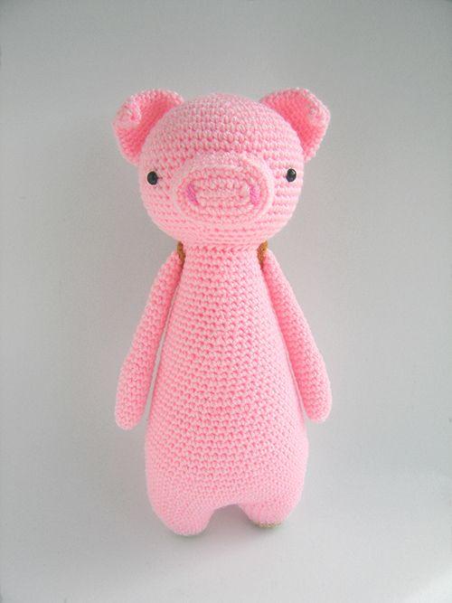 Buy Tall pig with backpack amigurumi pattern - Amigurumipatterns.net