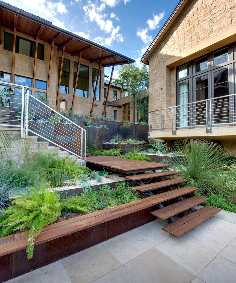 Stairs, Raised Bed Gardening, Landscape Design, Landscape