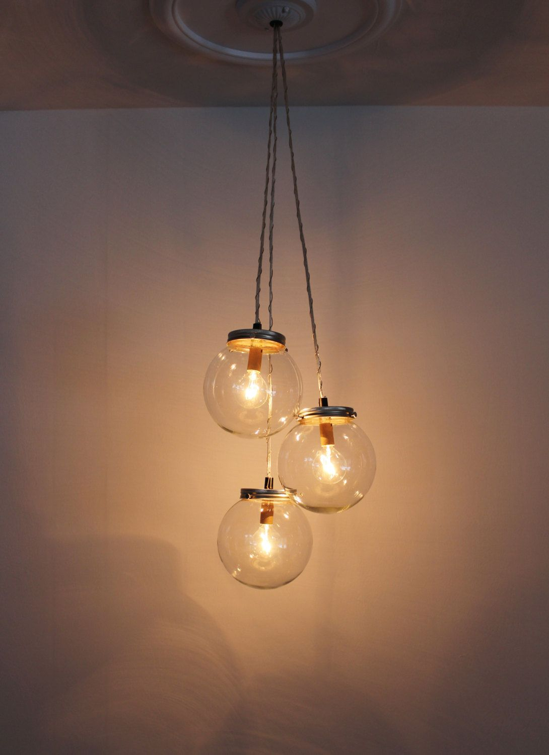 Orb Globe Cer Chandelier Bootsngus Hanging By