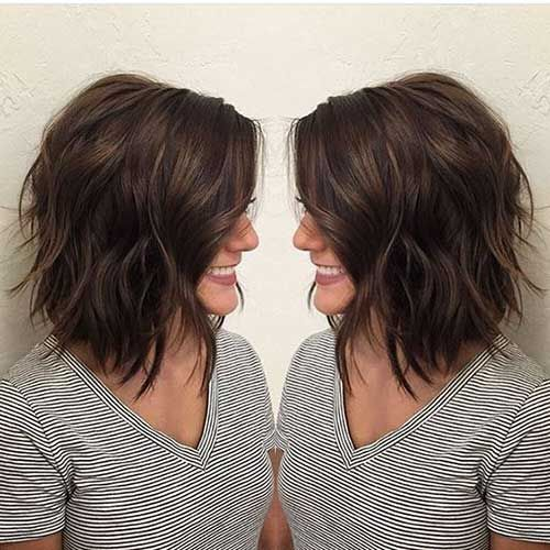 13 Short Hairstyle For Thick Hair Jpg 500 500 Bob Frisur Dickes Haar Bob Frisur Frisur Dicke Haare