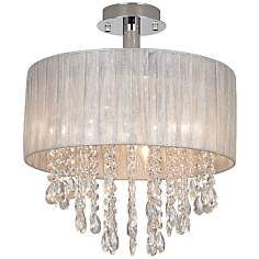 Schön Jolie Silver And Crystal Ceiling Light By Possini Euro