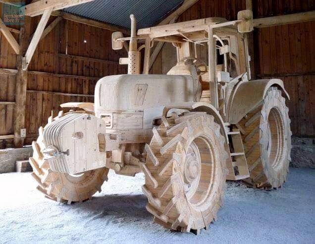 traktor wood vehicles wooden truck wood und. Black Bedroom Furniture Sets. Home Design Ideas