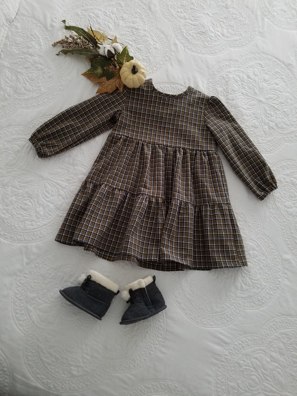 Baby Girl Dress Fall Dress Toddler Girls Dress Long Sleeve Dress Prarie Dress Winter Dress Vintage Girls Clothes Girls Winter Dresses Cute Little Girl Dresses [ 3000 x 2250 Pixel ]