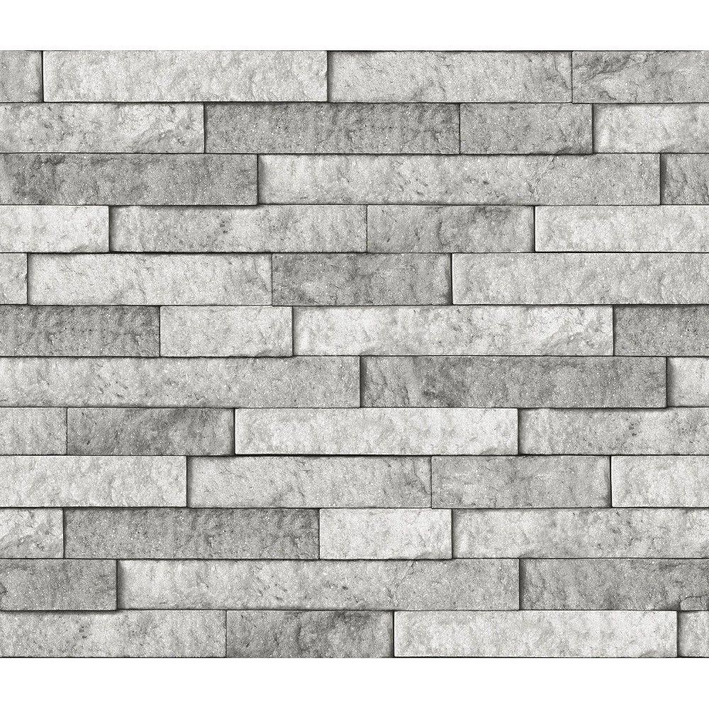 Brewster Stone Peel Stick Backsplash Gray Grey Stone Wall Peel Stick Backsplash