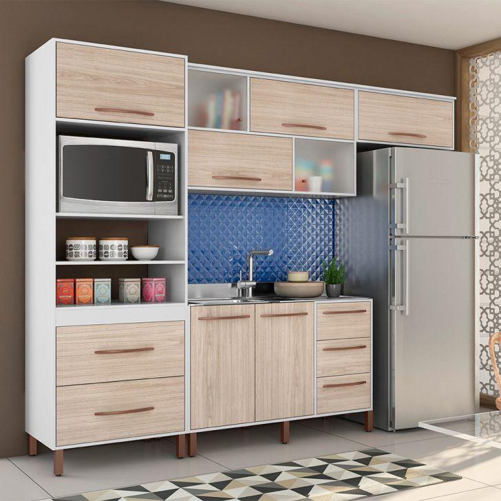 Cozinha Completa Canela 8 Pt 5 Gv Branco E Teka Cozinha Compacta
