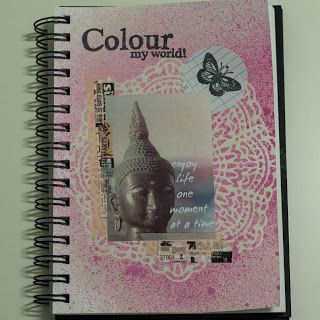 I decided to take part in A Mixed Media Color Challenge on a new blog: http://amixedmediacolorchallenge.blogspot.com/