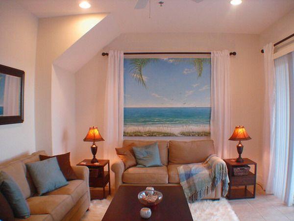beautiful living room featured beach window murals beautiful window
