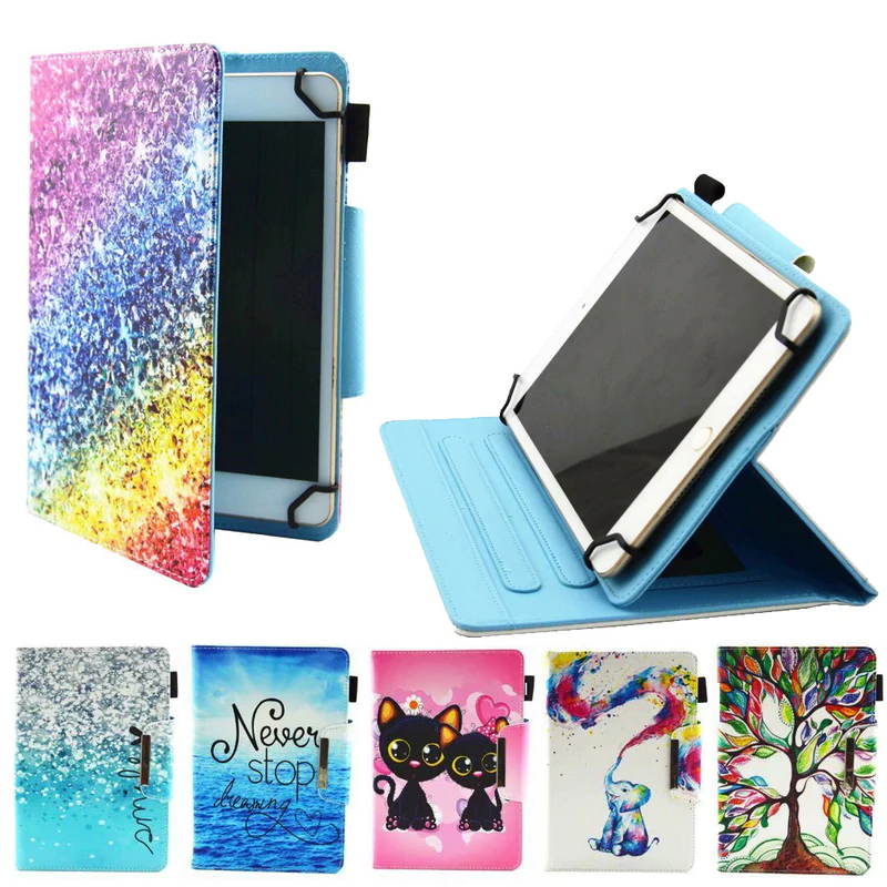 Universal PU Leather Stand Cover For Samsung Huawei Mediapad M5 ...