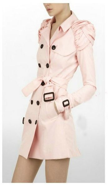Burberry Prorsum 2010 Knotted Epaulette Trench in frosted pink