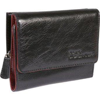 Derek Alexander Leather Trifold Wallet - BLACK/RED Derek Alexander Leather. $47.99