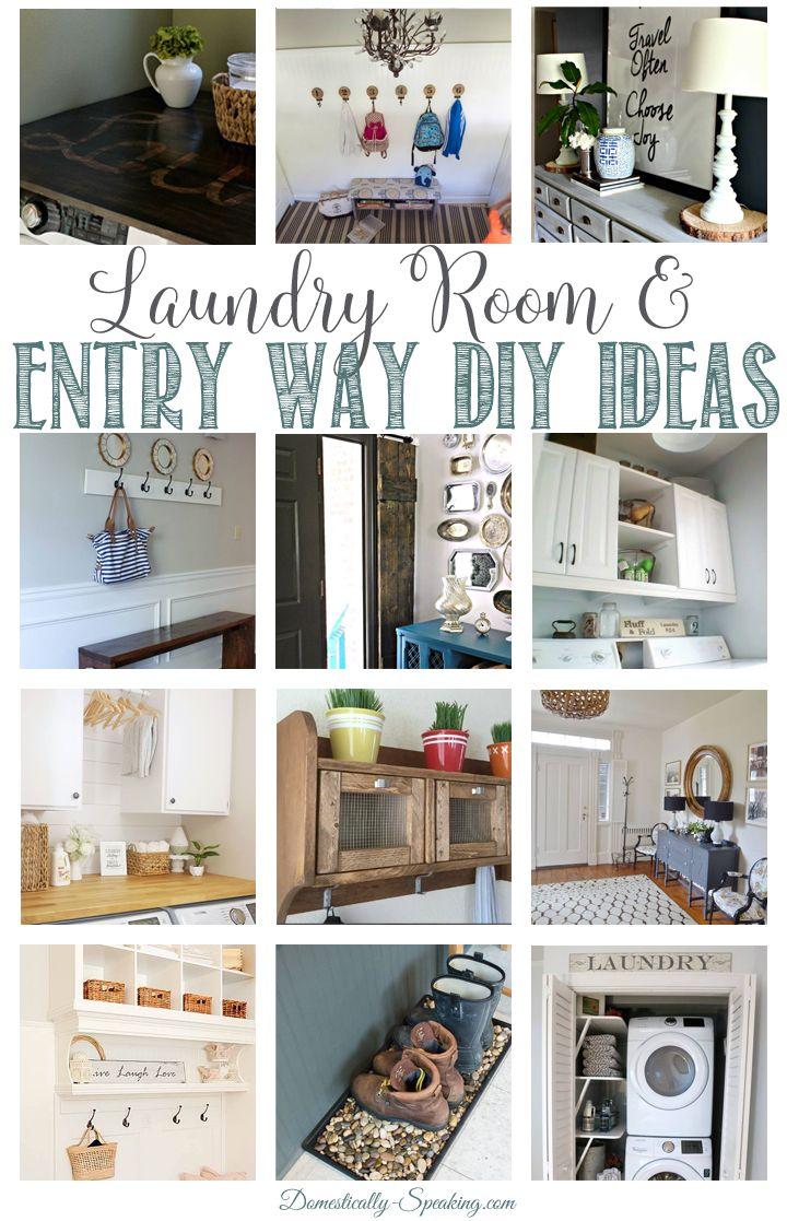 Laundry Room and Entry Way DIY Ideas  Laundry room, Laundry room