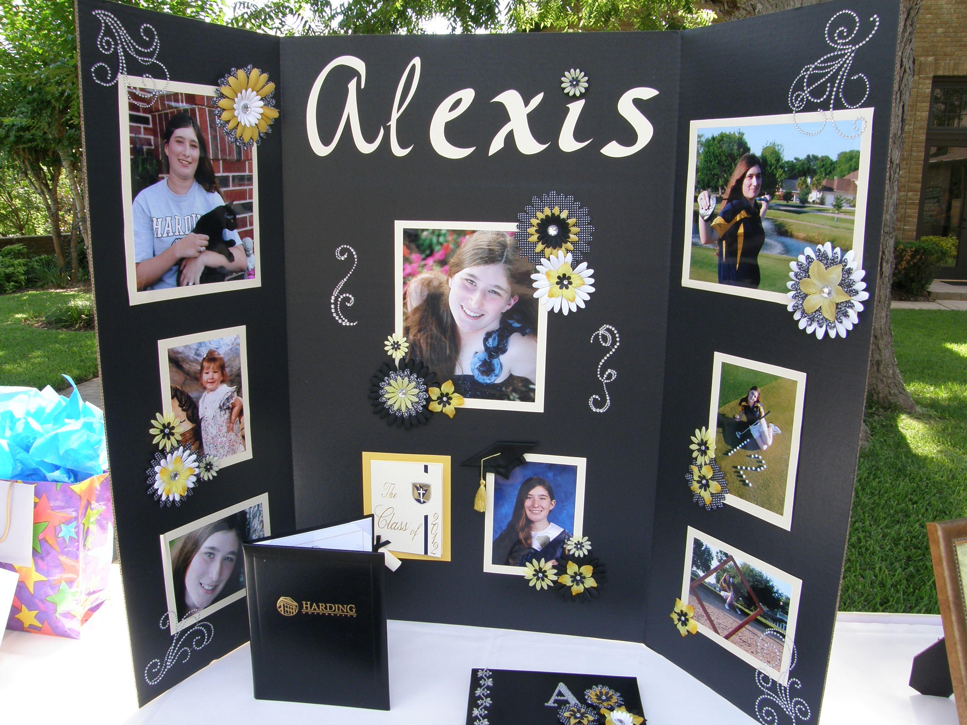 graduation senior photo board