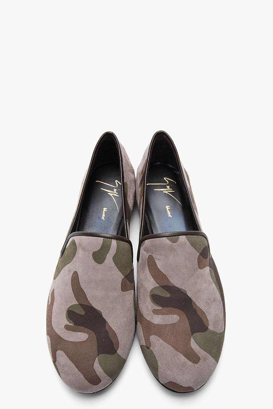26c080288cab0 GIUSEPPE ZANOTTI Taupe and green camo Kevin 10 loafers Male Shoes, Men S  Shoes,