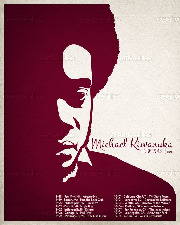Michael Kiwanuka Poster by Daniel Jacob on CreativeAllies.com