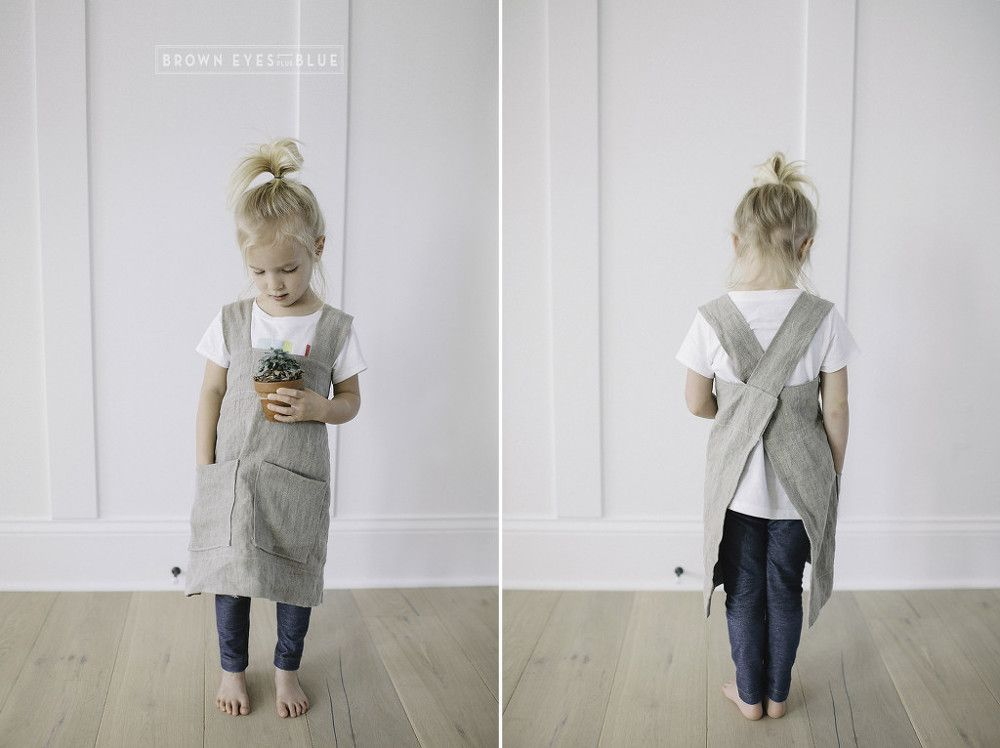 Cross back pinafore apron sewing pattern (adult and child) | Kiddo ...